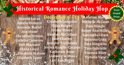 Historical Romance Holiday Hop FB Ad